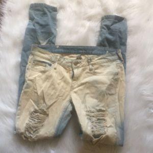 Mango Jeans Distress Skinny Size 5